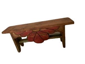 rustic wood bench