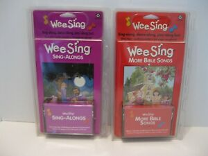 Wee Sing Sing-Along and More Bible Songs - Lot of 2 NEW SEALED