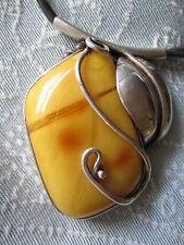 Großer Butterscotch Bernstein Anhänger 46g 正版波罗的海琥珀奶油 egg yolk Amber Pendant