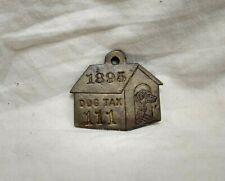 1895 Cicero Illinois Brass Dog Tag License Dog House Graphics