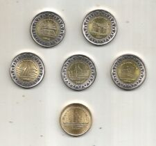 EGYPT COINS NEW ISSUES 2019 AMAZING LOT 6 PCS 5 x 1 POUND + GIFT 50 PTS UNCIRCUL