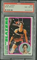 1978 Topps #98 Bob Gross Portland Trail Blazers PSA 8 NM-MT