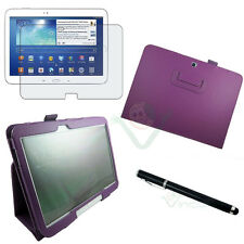 Pellicola+Pennino+Custodia pelle VIOLA Stand pr Samsung Galaxy Tab 3 10.1 P5200