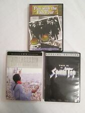 Lot 3 Music DVDs Spinal Tap Fun with the Fab Four Beatles Jimi Hendrix Woodstock
