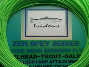 Running Fly Line 9 wt Irideus Fly Fishing  Spey Switch Single Hand fly rod