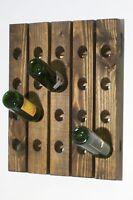Wall Wine Rack Riddling Rack Wood Handmade  Hanging Wine Rack