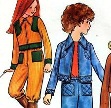 Vintage 70s GIRLS JACKET Shorts PANTS Sewing Pattern Sz 8 Retro CHILDRENS Outfit
