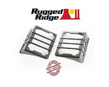 Rugged Ridge Elite Series Tail Light Guards - Black - 07-18 Jeep Wrangler JK
