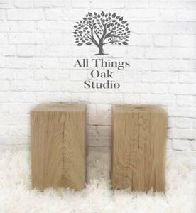 HUGE 25cmx 25cm OAK Block Lamp Side Table Bedside End Stands 40cm OR 50cm tall