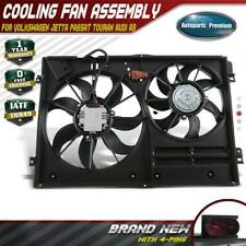 Radiator Engine Cooling AC Fan Assembly for Audi VW A3 TT CC Tiguan Passat Bora