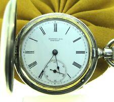 Tiffany & Co. New York Sterling Silver Hunter Case Pocket Watch
