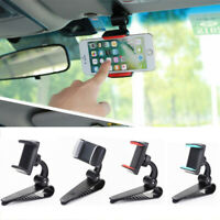 Rearview Mirror Mount Clip Stand Car Sun Visor Bracket Cell Phone Holder ~