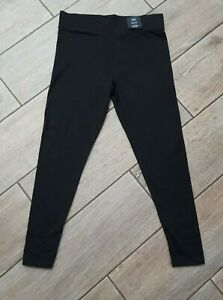 MARKS AND SPENCER ladies M&S Black leggings petite size 14 high rise staynew