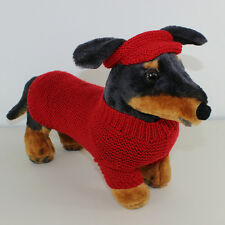 PRINTED KNITTING INSTRUCTIONS -SMALL DOG 4 PLY COAT VISOR & PIXIE HAT
