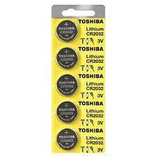 Toshiba Genuine Fresh Date CR2032 2032 Lithium 3V Batteries Exp 2025 (5 pieces)