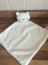 Asda George white sleeping teddy bear baby soft hug toy comforter blankie sleepy