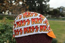 Cycling cap KISS  one size 100% COTTON   handmade new