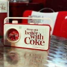 Used Coca cola Alarm Clock Radio Retro Design Red