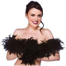 Feather Boa Super Soft Ladies Fancy Dress Black T5Y9