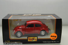 MAISTO VW VOLKSWAGEN BEETLE KAFER RED MINT BOXED