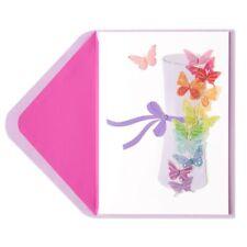"""Butterflies & Diploma"" Handmade Graduation Card - Papyrus Unique Glitter"