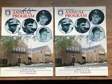 1985 Baseball HOF Induction Programs Signed by Boudreau Roberts Slaughter
