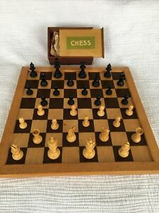 Vintage Jaques London J.J& S Wooden Chess Set Board Chessboard Chessmen Box Game