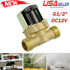 New 1/2 INCH NPSM 12V DC Slim Brass Electric Solenoid Valve Gas Water Air
