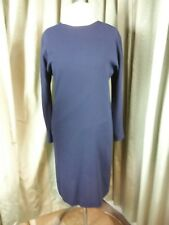 Jean Muir Studio Classic Navy Raglan Sleeve 100% Wool Dress UK14 EU42