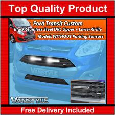 FORD Transit Custom Nero Tomaia in rete Anteriore Griglia Inferiore LED DRL LUCI non astuzie