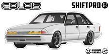 VL Calais Holden Commodore Sticker - White with Black Momo Rims - ShiftPro Brand