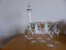 Theresienthal Karaffe und 4 Gläser (Likör)