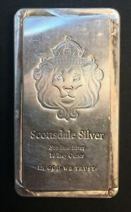 United States - Silver 10 Troy Ounce Bar - 'Scottsdale Mint' - .999 - UNC