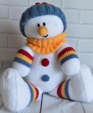 SNOWMAN SOFTIE  CHRISTMAS SOFT TOY KNITTING PATTERN TO MAKE YOURSELF KBP183