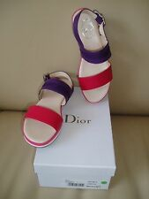 NEW Stunning DIOR  girls leather summer shoes, size 34 UK 2 RPR £280