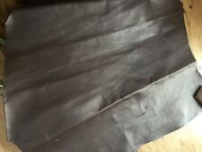 BROWN LEATHER TANNED SKIN - PIECE - HARD - GOOD FOR BOOK COVER