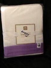 Pottery Barn Teen Suite Ribbon Sheet set Queen flannel purple