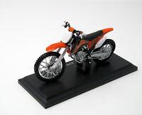 Modell Motorrad 1:18  KTM 450 SX-F  orange schwarz mit Sockel 1/18 Maisto