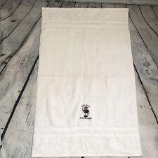 """RALPH LAUREN Polo Bear Large HAND TOWEL Bath Mat USA Vtg 20"""" X 32"""" 100% Cotton"""