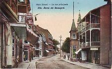 Canada Quebec Ste. Anne de Beaupre - La rue principale Main Street old postcard