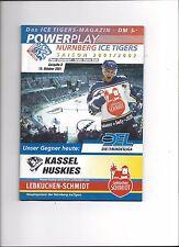 DEL Programm: NÜRNBERG ICE TIGERS - KASSEL HUSKIES 19.10.2001, Saison 01/02