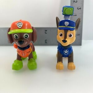 Lot of 2 Paw Patrol Chase Zuma 2 1/2 Inch Action Figures
