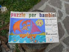 NUOVO GiochiRoma Puzzle mare 50x70cm tessere grandi vintage