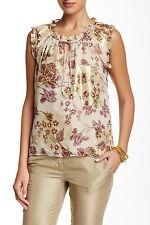 Diane von Furstenberg/DVF Rebekah NWT Gold Metallic Silk Top Blouse Sz 10 $268