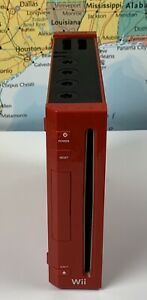 SHIPS SAME DAY Red Nintendo Wii System CONSOLE ONLY GameCube Compatible Tested