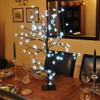 85cm Pre-Lit LED Cherry Blossom Tree Centrepiece Ice White Christmas Decoration