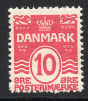 Denmark 10 Ore Stamp c1905-07 Mounted Mint (2293)