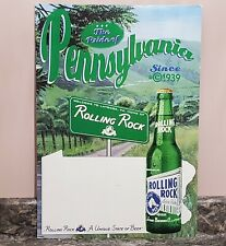 "1998 Rolling Rock Store Display Beer Sign The Pride Of Pennsylvania 23"" x 16"""