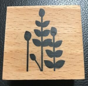 Fern Leaf Plant Leaves Wooden Rubber Stamp Hampton Art