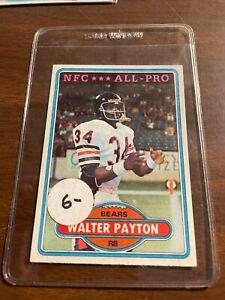 1980 TOPPS WALTER PAYTON